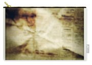 Grunge Newspaper Carry-all Pouch