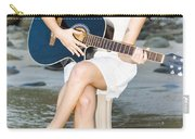 Guitar Woman Carry-all Pouch