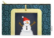 Hanged Xmas Slate - Snowman Carry-all Pouch