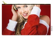 Happy Dj Christmas Girl Listening To Xmas Music Carry-all Pouch