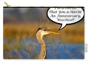 Happy Heron Anniversary Card Carry-all Pouch