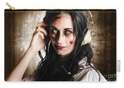 Hard Rock Zombie Listening To Death Metal Music Carry-all Pouch