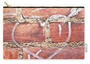 Heart Graffiti Carry-all Pouch by Tom Gowanlock