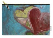 Heart Shape Painted On A Wall, Safed Carry-all Pouch