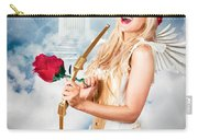 Heavenly Angel Of Love With Flower Arrow Carry-all Pouch
