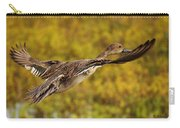 Hen Northern Pintail In Flight  Carry-all Pouch