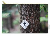 Hiking Trail Sign On The Forest Paths Carry-all Pouch