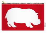 Hippo In Red And White Carry-all Pouch
