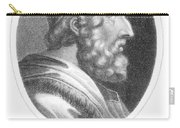 Homer, Ancient Greek Epic Poet Carry-all Pouch by Photo Researchers