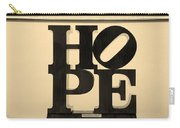 Hope In Sepia Carry-all Pouch