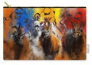 Horse Racing Abstract  Carry-all Pouch