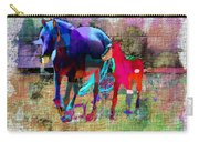Horses Of Different Colors Carry-all Pouch