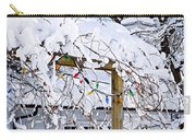 House Under Snow Carry-all Pouch by Elena Elisseeva