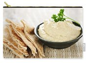 Hummus With Pita Bread Carry-all Pouch