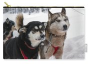 Husky Dogs Pull A Sledge  Carry-all Pouch by Lilach Weiss