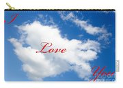 1 I Love You Heart Cloud Carry-all Pouch