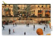 Ice Skating In New York City Carry-all Pouch