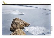 Icy Shore In Winter Carry-all Pouch