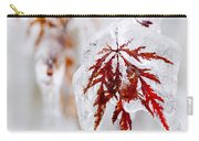 Icy Winter Leaf Carry-all Pouch