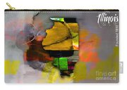 Illinois Map Watercolor Carry-all Pouch