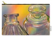 Ink Bottles On Color Carry-all Pouch by Carol Leigh