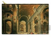 Interior Of St Peters In Rome Carry-all Pouch by Giovanni Paolo Panini