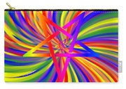 Inverted Rainbow Spiral Carry-all Pouch
