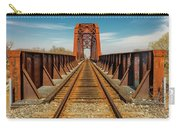 Iron Railroad Bridge Over Water, Texas Carry-all Pouch