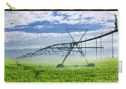 Irrigation Equipment On Farm Field Carry-all Pouch by Elena Elisseeva