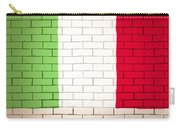 Italy Flag Brick Wall Background Carry-all Pouch