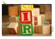 Its A Girl - Alphabet Blocks Carry-all Pouch