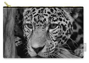 Jaguar In Black And White II Carry-all Pouch by Sandy Keeton