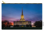 Jordan River Temple Sunset Carry-all Pouch by La Rae  Roberts