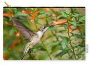 Juvenile Male Ruby-throated Hummingbird Carry-all Pouch