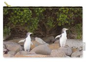 Juvenile Nz Yellow-eyed Penguins Or Hoiho On Shore Carry-all Pouch