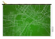 Kabul Street Map - Kabul Afghanistan Road Map Art On Colored Bac Carry-all Pouch