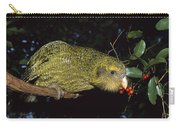Kakapo Feeding On Supplejack Berries Carry-all Pouch