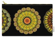 Kaleidoscope Ernst Haeckl Sea Life Series Triptych Carry-all Pouch
