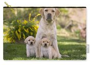 Labrador With Two Puppies Carry-all Pouch