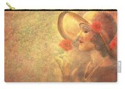 1-lady In The Flower Garden Carry-all Pouch