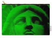 Lady Liberty In Green Carry-all Pouch