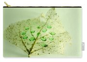 Leaf With Green Drops Carry-all Pouch