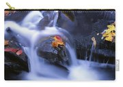 Leaves In Little River Great Smoky Carry-all Pouch