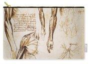 Leonardo: Anatomy, C1510 Carry-all Pouch
