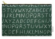 Letters On A Chalkboard Carry-all Pouch