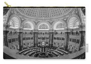 Library Of Congress Main Reading Room Carry-all Pouch by Susan Candelario