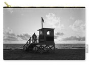 Lifeguard Hut On The Beach, 22nd St Carry-all Pouch
