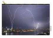 Lightening Over Manhattan Carry-all Pouch