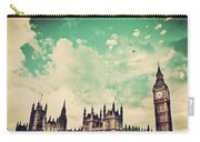 London Uk Big Ben The Palace Of Westminster Carry-all Pouch