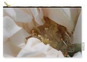 Long-stemmed White Rose Carry-all Pouch